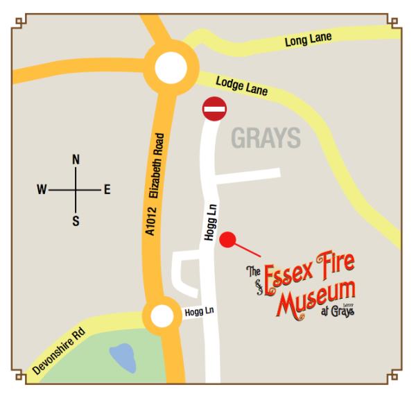 mapka Essex Fire Museum
